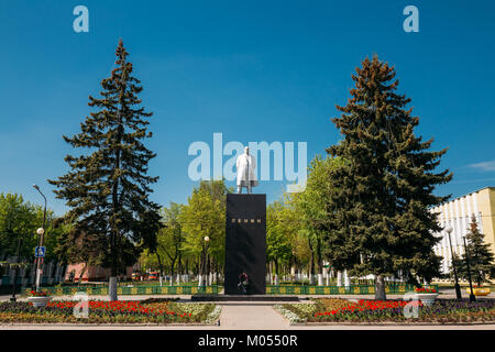 Dobrush, Belarus. Statue Of Vladimir Lenin In Lenin Square - Stock Photo