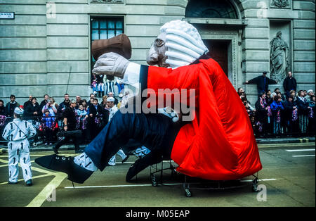 A section of the parade at the Annual Lord Mayor's Show. - Stock Photo