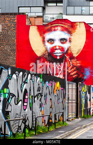 Street Art, Northern Quarter, Manchester - Stock Photo