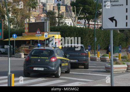 Street control by Italian force of police (guardia di finanza) - Stock Photo
