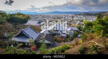 Kyoto, Japan - Nov 29, 2016. Aerial view of Kyoto, Japan. Kyoto was the capital of Japan for over a millennium, - Stock Photo
