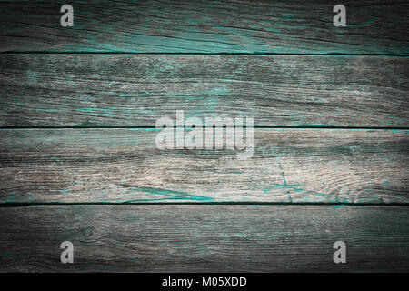 A Rustic Wooden Background Made Of Weathered Boards With Turquoise Details