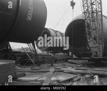 Bouw windtunnel Nationaal Luchtvaartlaboratorium Amsterdam, Bestanddeelnr 908-1556 - Stock Photo