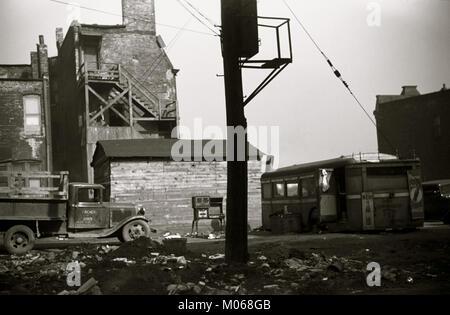 African American Scrap Yard - Stock Photo