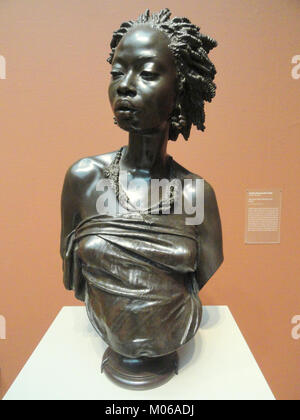 Bust of an African Woman, 1851, by Charles-Henri-Joseph Cordier, bronze - Art Institute of Chicago - DSC09587 - Stock Photo