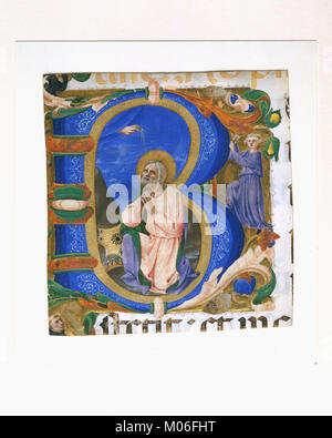 King David in Prayer in an Initial B MET DT3608 - Stock Photo