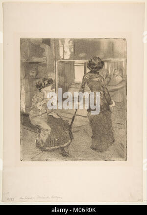 Mary Cassatt at the Louvre- The Etruscan Gallery MET DP817192 - Stock Photo
