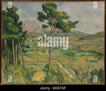 Mont Sainte-Victoire and the Viaduct of the Arc River Valley MET DT889 - Stock Photo
