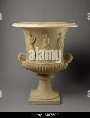 Marble calyx-krater with reliefs of maidens and dancing maenads MET DT4542 - Stock Photo