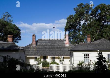 Waitangi, New Zealand. Treaty House - Stock Photo