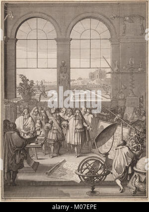 Louis XIV Visiting the Royal Academy of Sciences MET DP211601 - Stock Photo