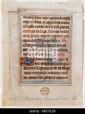 Manuscript Leaf from a Book of Hours MET sf32-100-475Fs2 - Stock Photo