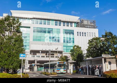 Japan, Honshu, Kanagawa Prefecture, Odawara, Odawara Train Station - Stock Photo