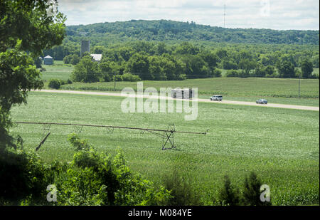 """Recreational vehical used by Agriculture Secretary Sonny Perdue for the Back to Our Roots"""" tour, on August - Stock Photo"""