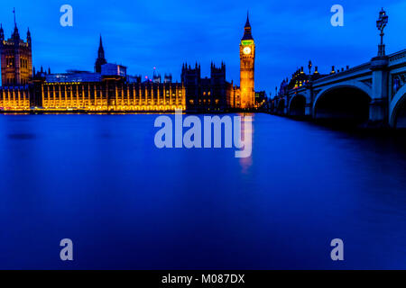 Big Ben, Houses of Parliament - Stock Photo