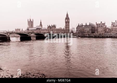 Big Ben, Houses of Parliament - Stock Photo