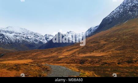 The Fairy Pools, Glen Brittle, Isle of Skye is a tourist, walker, hiker destination on the Isle of Skye. The fresh - Stock Photo