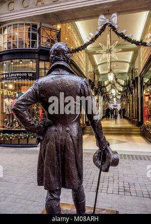 Beau Brummell Monument and Picadilly Arcade, London, England, United Kingdom - Stock Photo