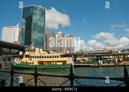 High rise City Business District CBD, Sydney, Australia with modern architecture, Gateway Plazza, and harbour / - Stock Photo