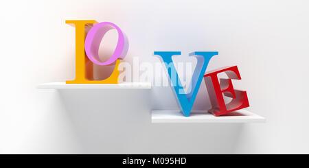 LOVE - 3D Rendering - Stock Photo
