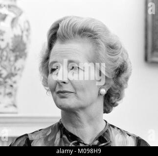 Margaret Thatcher (1925-2013). Portrait of the British Prime Minister whilst at the White House in September 1977, - Stock Photo