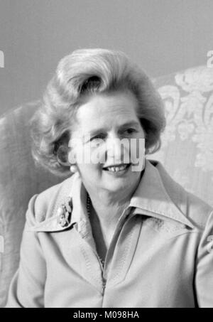 Margaret Thatcher (1925-2013). Portrait of the British Prime Minister in September 1975, photo by Marion S Trikosko. - Stock Photo