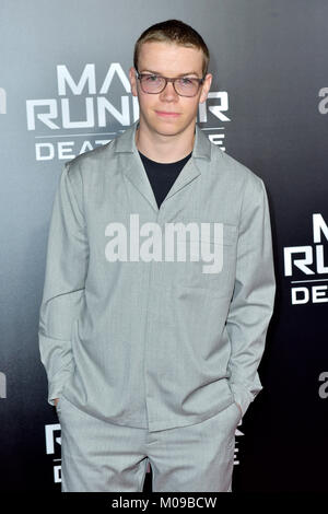 Los Angeles, California, USA. 18th January, 2018. Will Poulter attends the fan screening of 20th Century Fox's 'Maze - Stock Photo