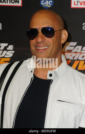 London, UK. 19th Jan, 2018. Vin Diesel arrives at Fast and Furious Live - VIP performance at O2 Arena on 19 January - Stock Photo