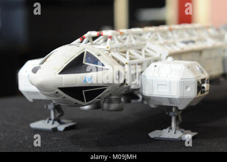 London, UK. 19th Jan, 2018. A model of an Eagle Transporter (a fictional spacecraft seen in the 1970s British television - Stock Photo