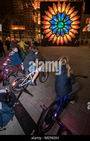 London, UK. 19th Jan, 2018. Lumiere London is a light festival that takes place over four evenings, from Thursday - Stock Photo