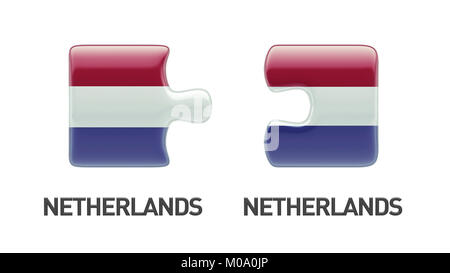 Netherlands High Resolution Puzzle Concept - Stock Photo