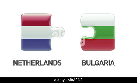 Bulgaria Netherlands High Resolution Puzzle Concept - Stock Photo