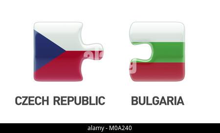 Bulgaria Czech Republic High Resolution Puzzle Concept - Stock Photo