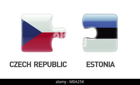 Estonia Czech Republic High Resolution Puzzle Concept - Stock Photo