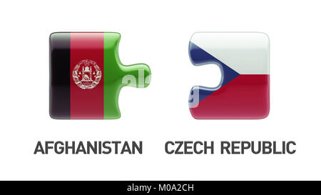 Afghanistan  Czech Republic High Resolution Puzzle Concept - Stock Photo