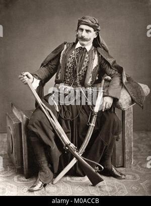 Turkey - dragoman, interpreter, translator, and official guide, c.1880's - Stock Photo