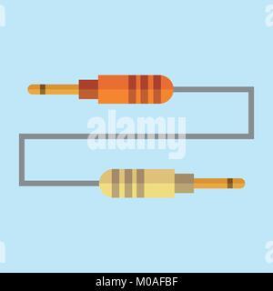 Jack Cable Plug Vector Illustration Graphic Design - Stock Photo