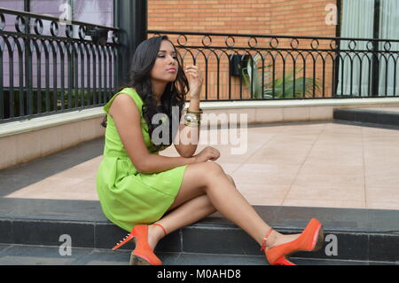 she is tired of waiting - Stock Photo
