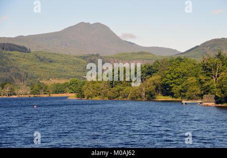 The Scottish Mountain Munro Ben Lomond and Loch Ard in the Scottish Highlands, UK. - Stock Photo