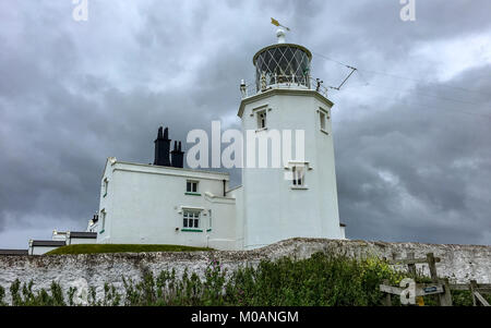 Lighthouse in rainy day - Stock Photo
