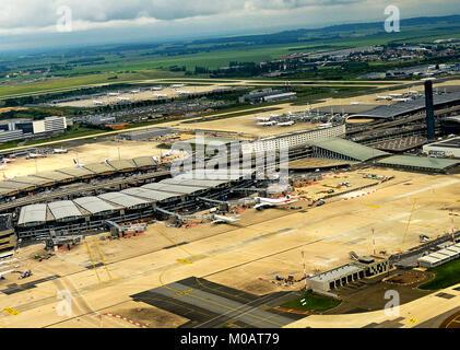 Roissy Charles-de-Gaulle international airport , France - Stock Photo