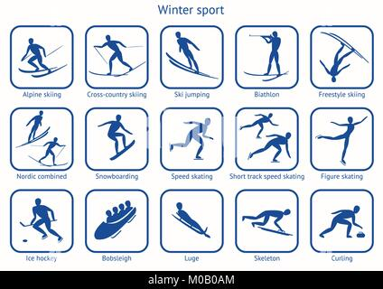 Winter sport and game. - Stock Photo