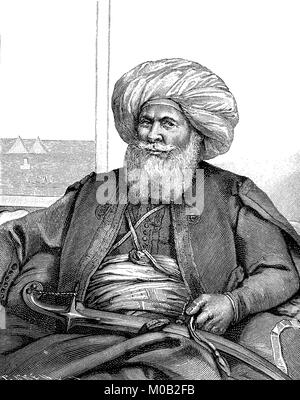 Muhammad Ali Pasha also Mehmed Ali Pasha, around 1770 in Kavala - August 2, 1849, was governor of the Ottoman province - Stock Photo