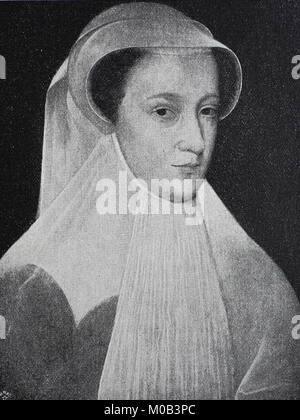Mary, Queen of Scots, 8 December 1542 - 8 February 1587, also known as Mary Stuart or Mary I, reigned over Scotland - Stock Photo