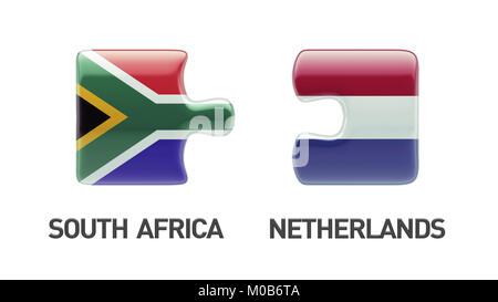 South Africa Netherlands High Resolution Puzzle Concept - Stock Photo