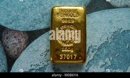 Bullion Gold 250 Gram Suisse - Stock Photo
