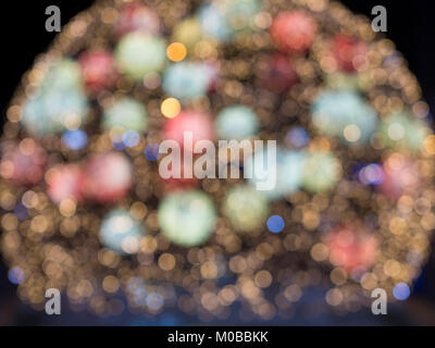 many lens bokeh effects created with lights - Stock Photo