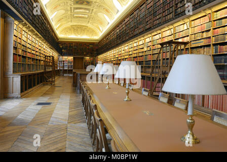 Paris, France - September 14, 2013: Library room of Luxembourg Palace. The palace was originally built in XVII century, - Stock Photo
