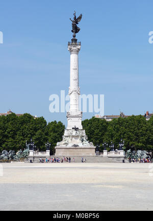 Bordeaux, France - June 27, 2013: Girondists monument on the Place des Quinconces in Bordeaux, France on June 27, - Stock Photo