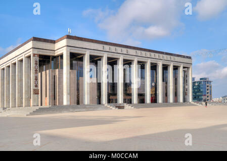 MINSK, BELORUSSIA - March 11.2017: The Palace of the Republic. The largest cultural and business center in the country - Stock Photo